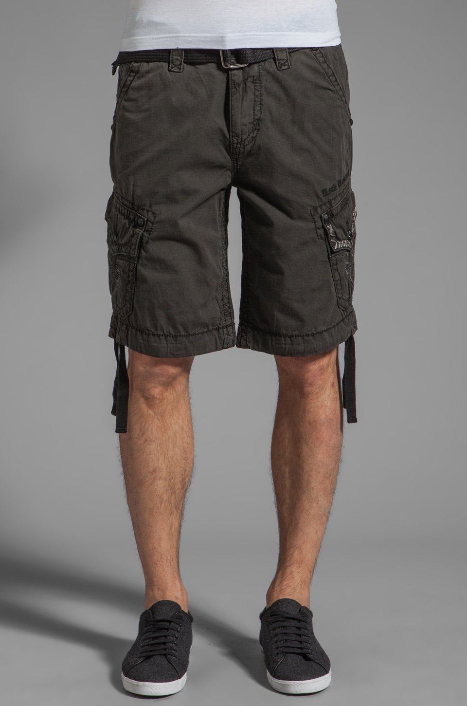 Rock Revival Cargo Short in Graphite