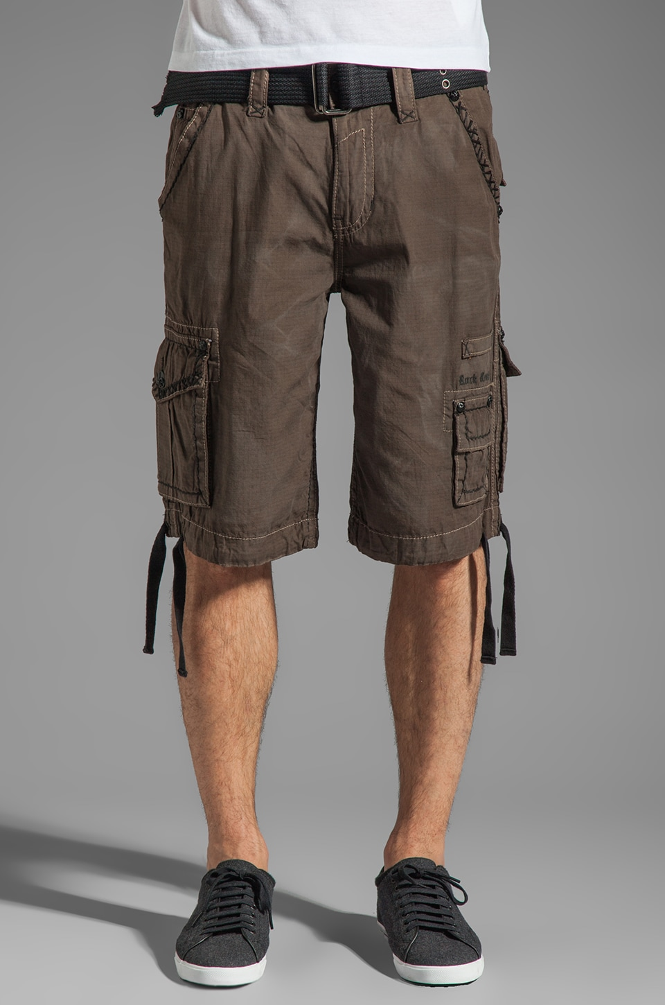 Rock Revival Cargo Short in Brown