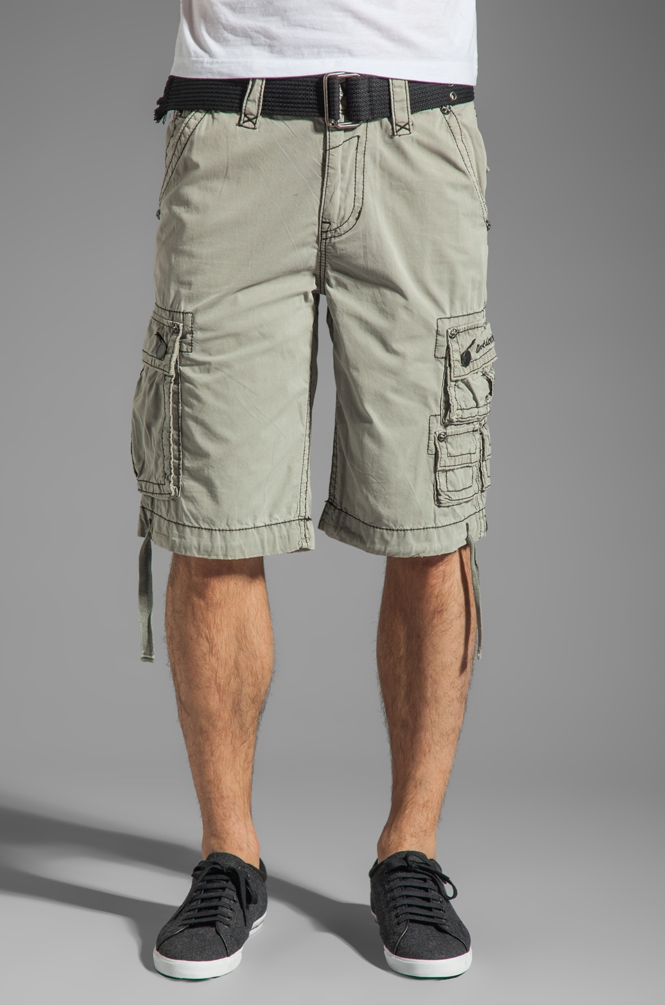 Rock Revival Cargo Short in Concrete