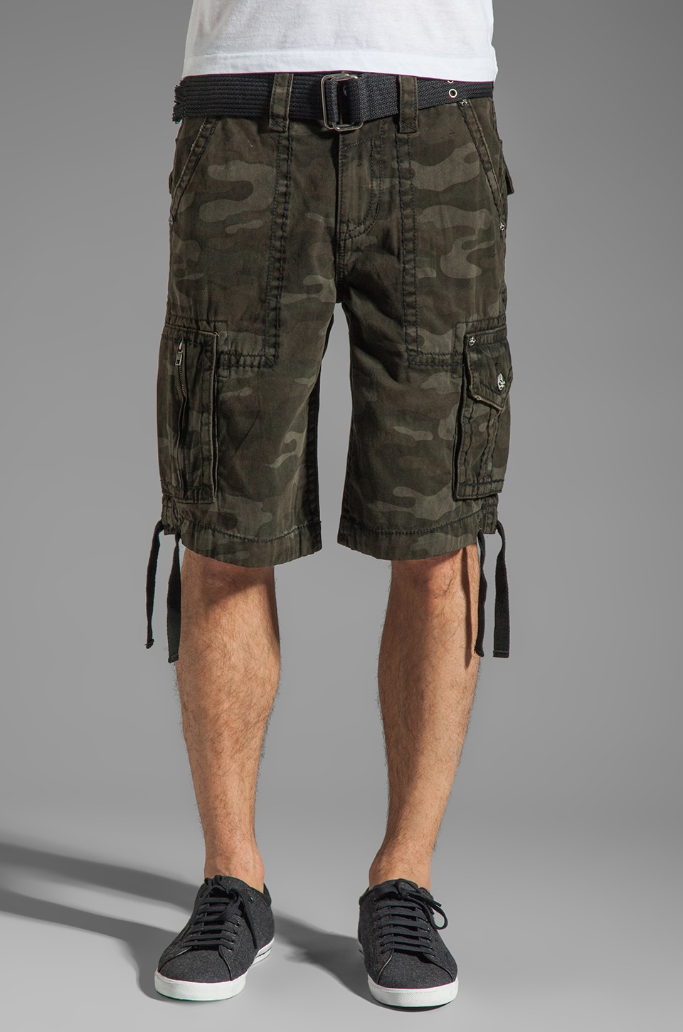 Rock Revival Cargo Short in Green Camo