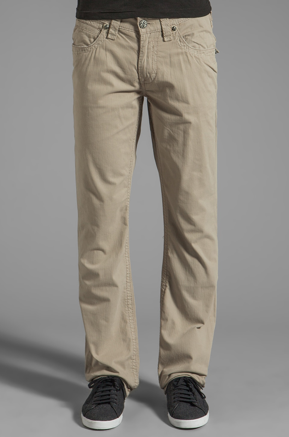 Rock Revival Twill Pant in Khaki