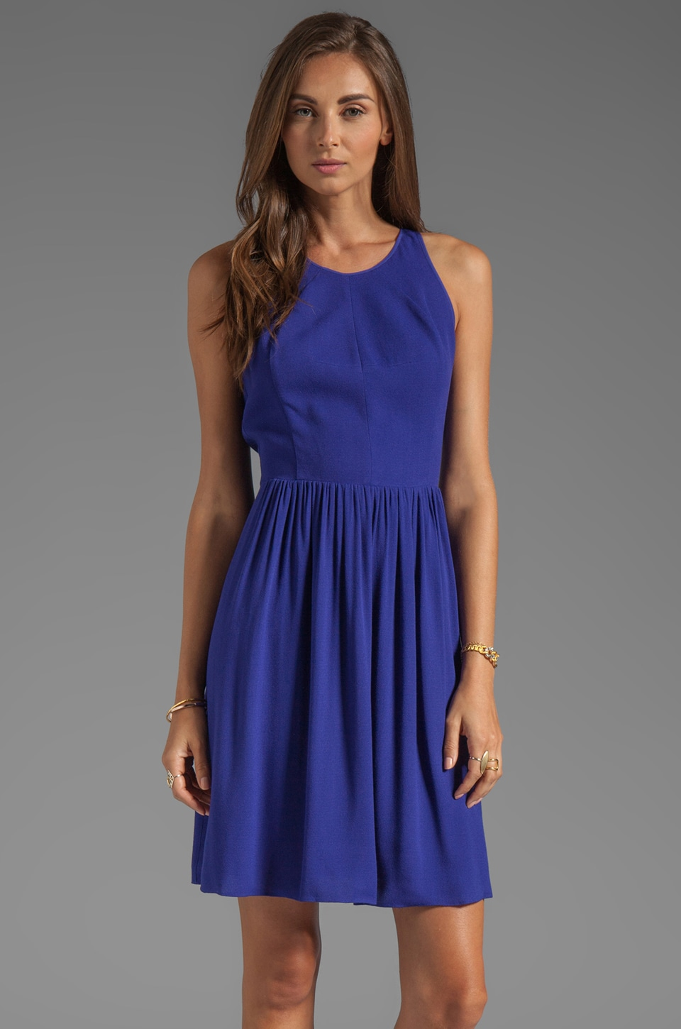 Rebecca Taylor Demi Femme Dress in Purple