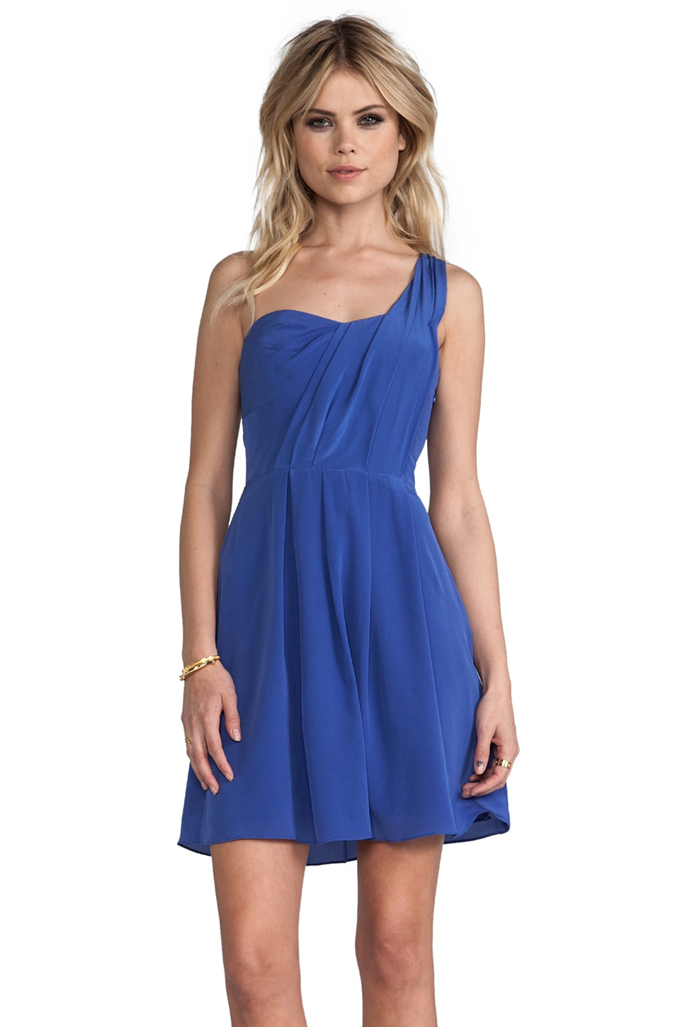 Rebecca Taylor One Shoulder Dress in Sailor