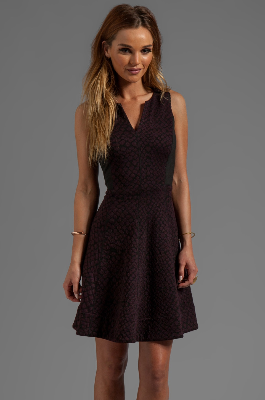 Rebecca Taylor Blocked Sleeveless Dress in Wine