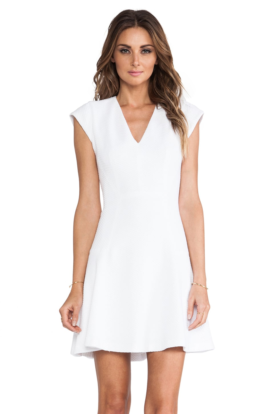 Rebecca Taylor Novelty Texture Dress in Sea Salt