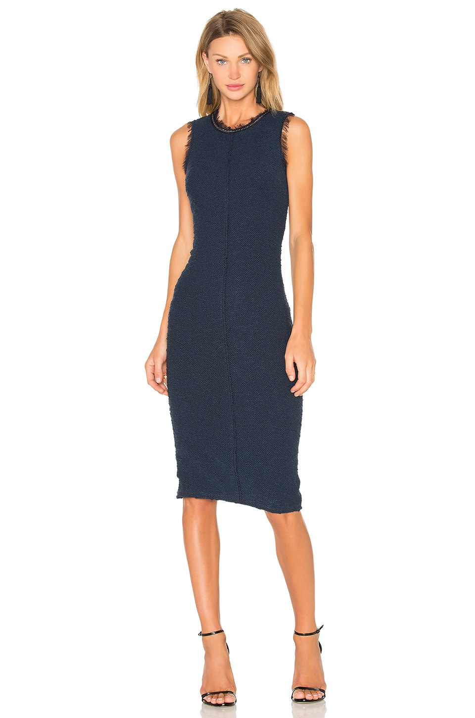 Sleeveless Boucle Shift Dress by Rebecca Taylor