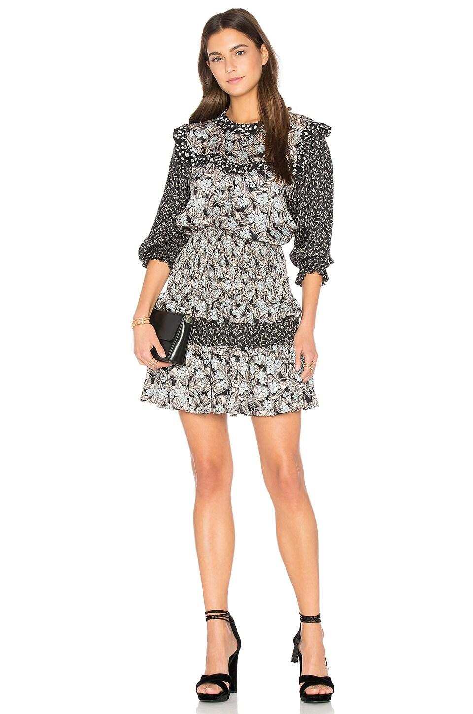 Long Sleeve Bijou Patch Dress by Rebecca Taylor