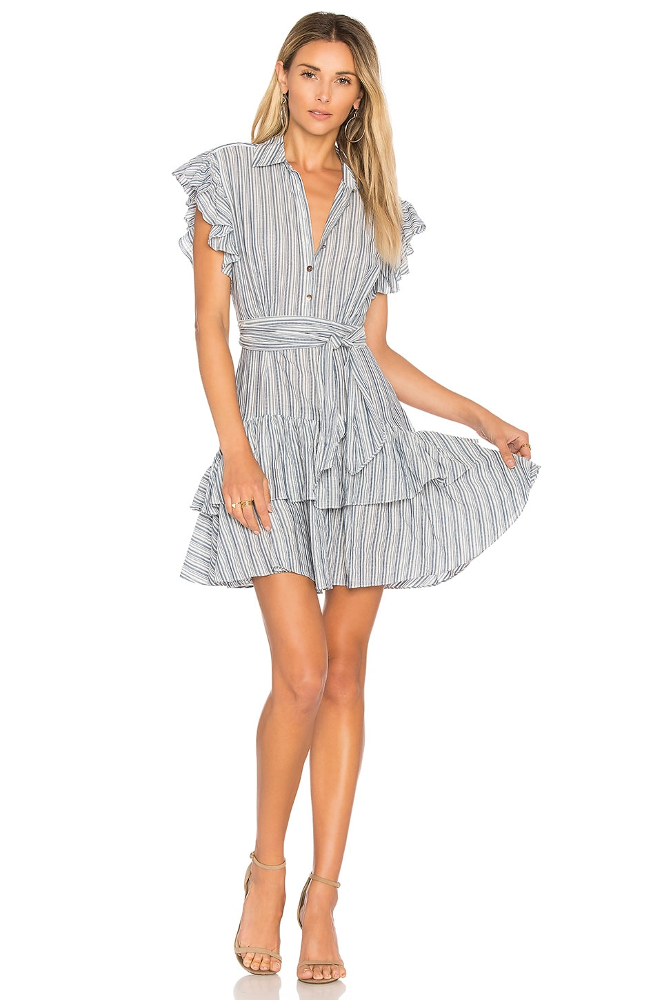 Rebecca Taylor Stripe Dress in Blue & Milk