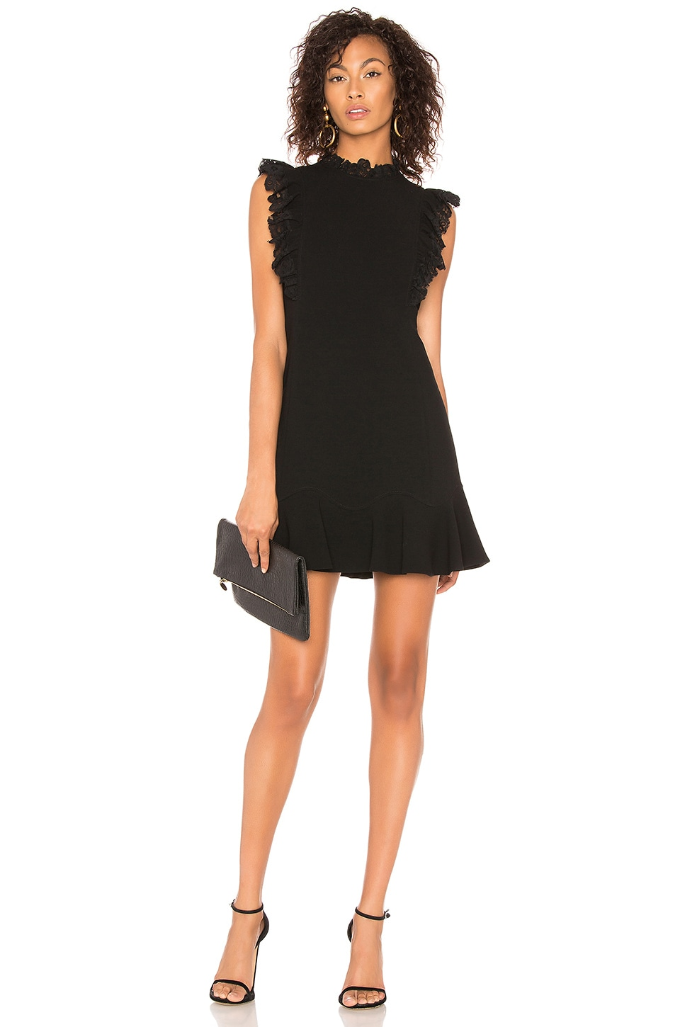 Rebecca Taylor Lace Sleeveless Dress in Black