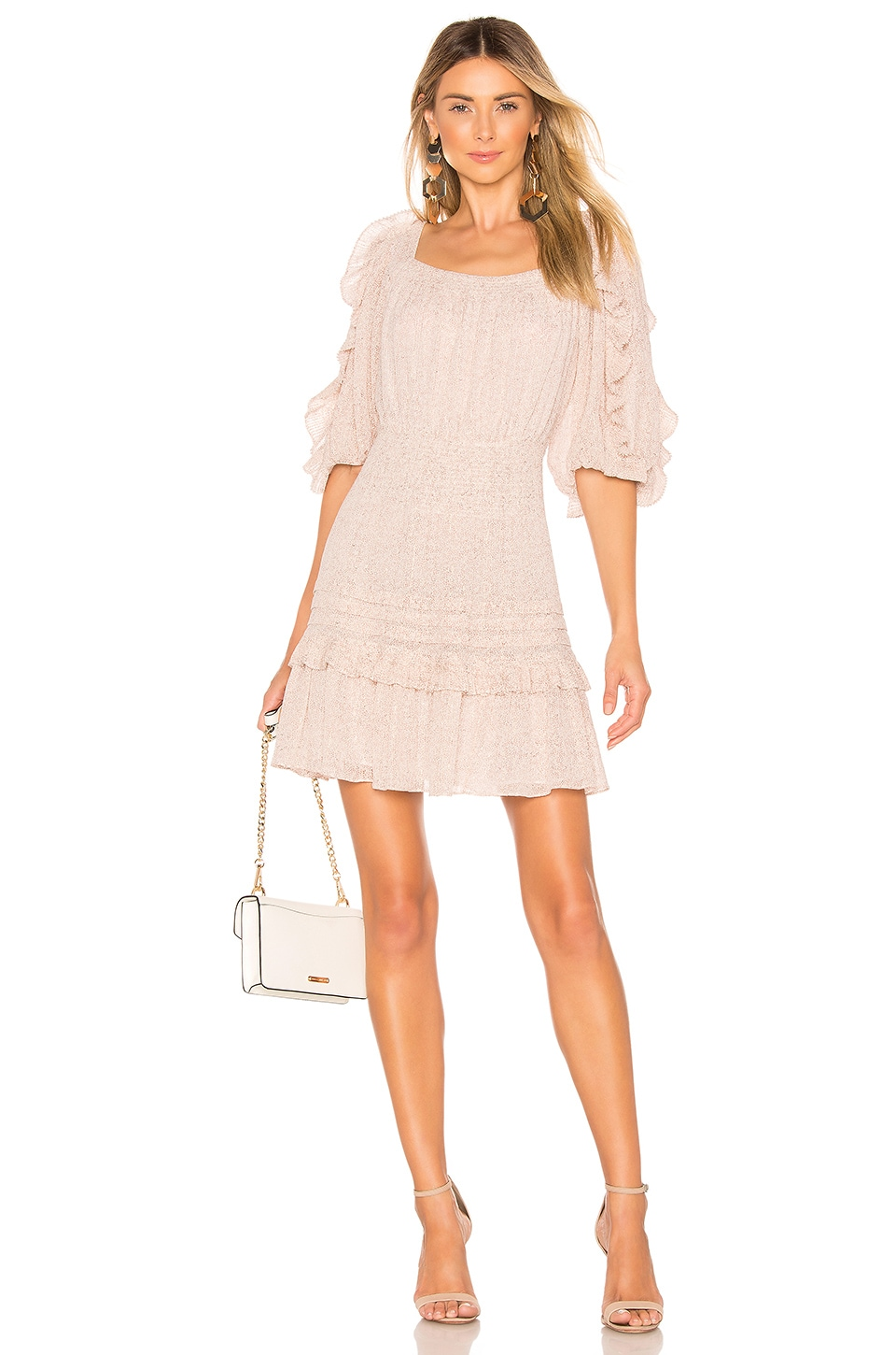 Rebecca Taylor Block Vine Dress in Cream Combo