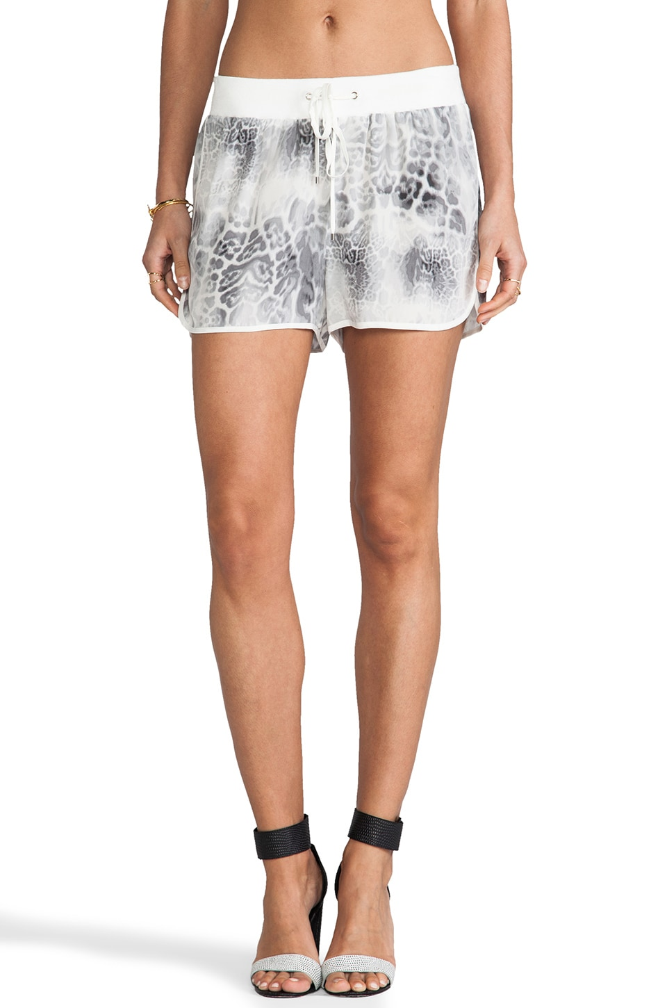 Rebecca Taylor Animal Printed Short in Steel Combo