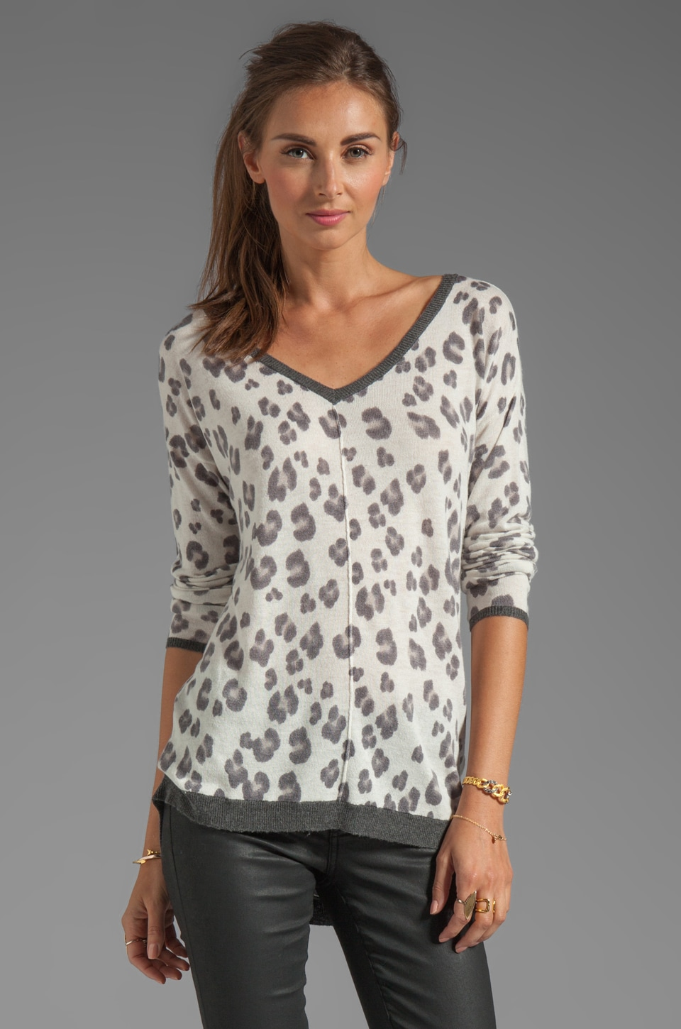 Rebecca Taylor Leo Pullover in Charcoal