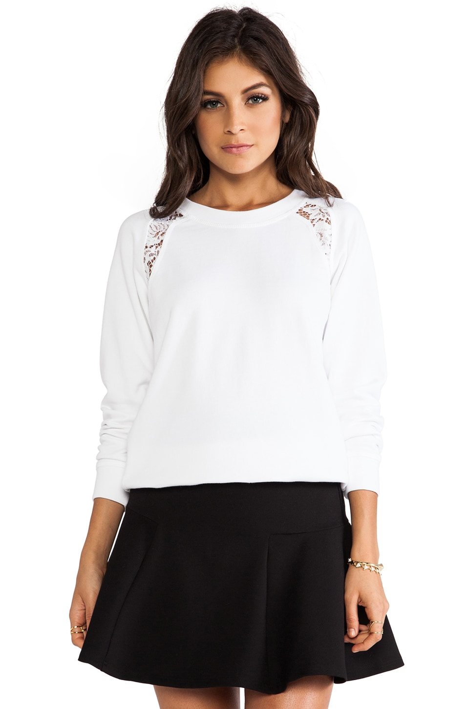Rebecca Taylor Sweatshirt in Snow White