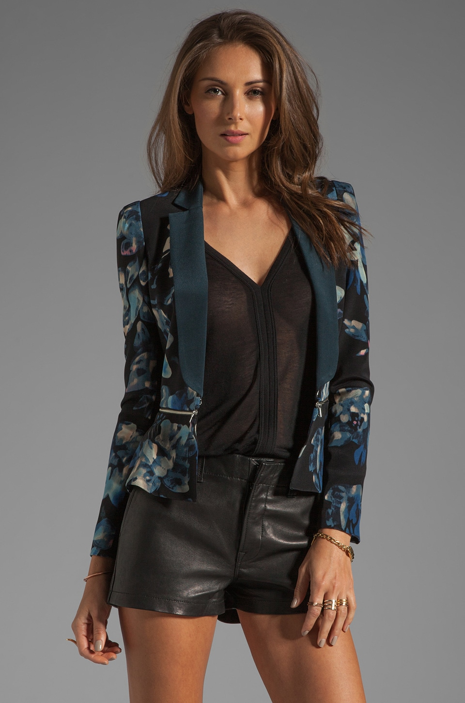 Rebecca Taylor Hawaii Zip Jacket in Black
