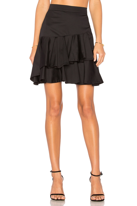 631ff078bb82 Rebecca Taylor Ruffle Skirt in Black | REVOLVE