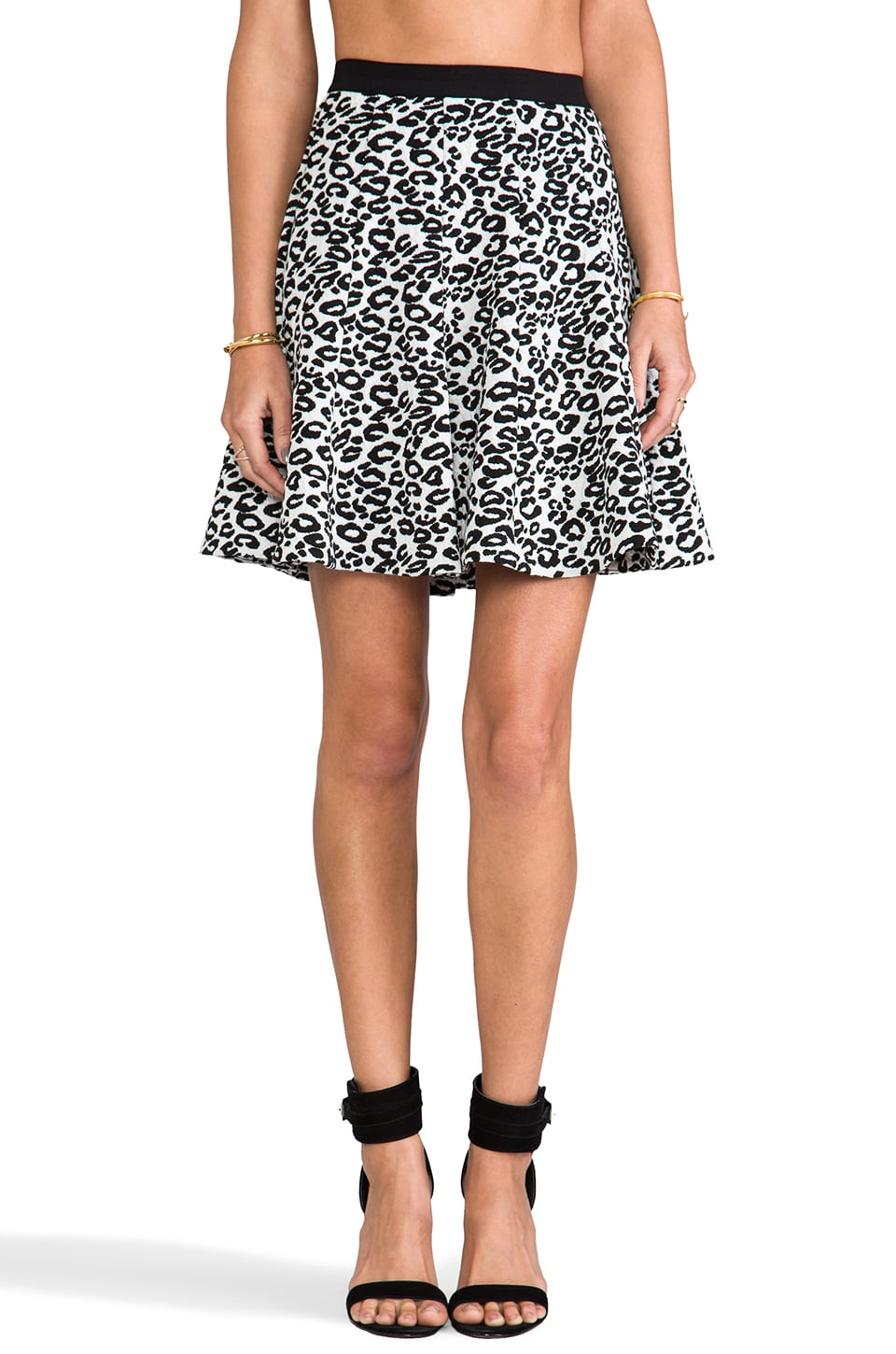 Rebecca Taylor Leo Flip Skirt in Black