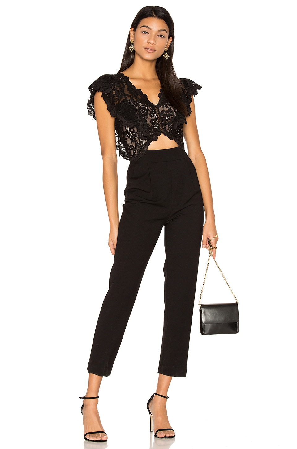Sleeveless Lace Jumpsuit by Rebecca Taylor