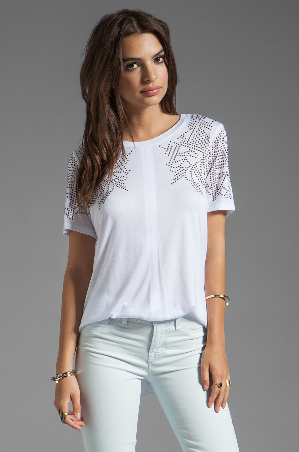 Rebecca Taylor Studded T in White