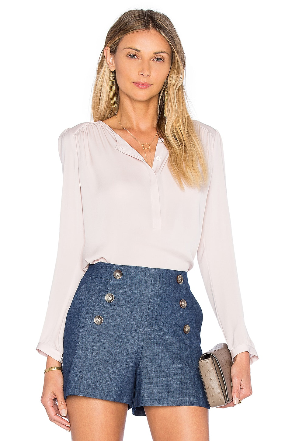 Long Sleeve Double Georgette Top at REVOLVE