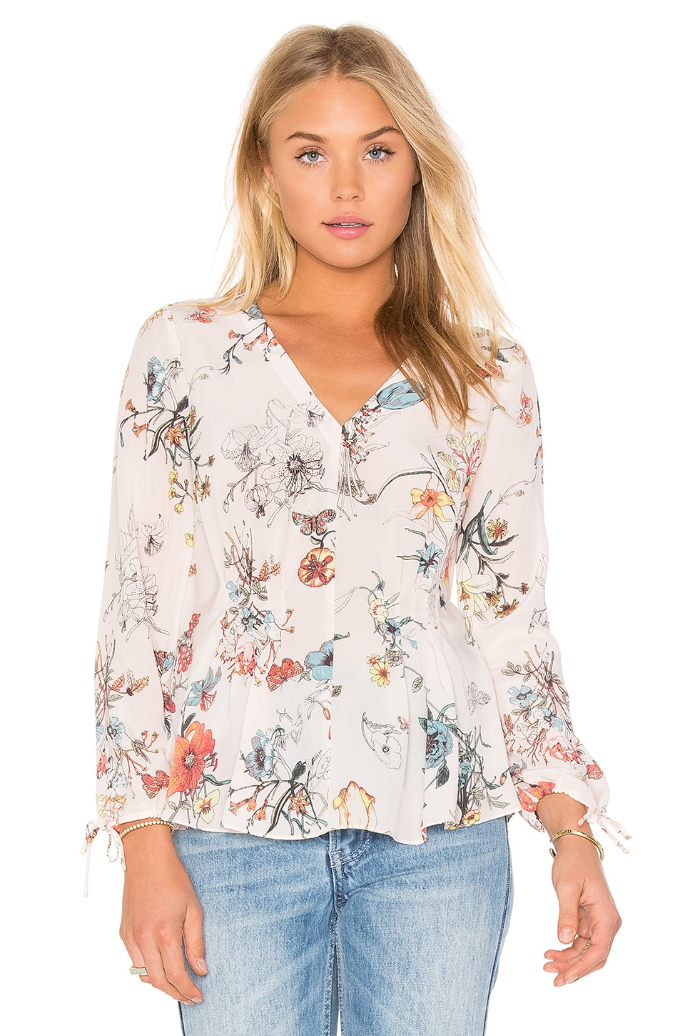 Long Sleeve Meadow Floral Top at REVOLVE