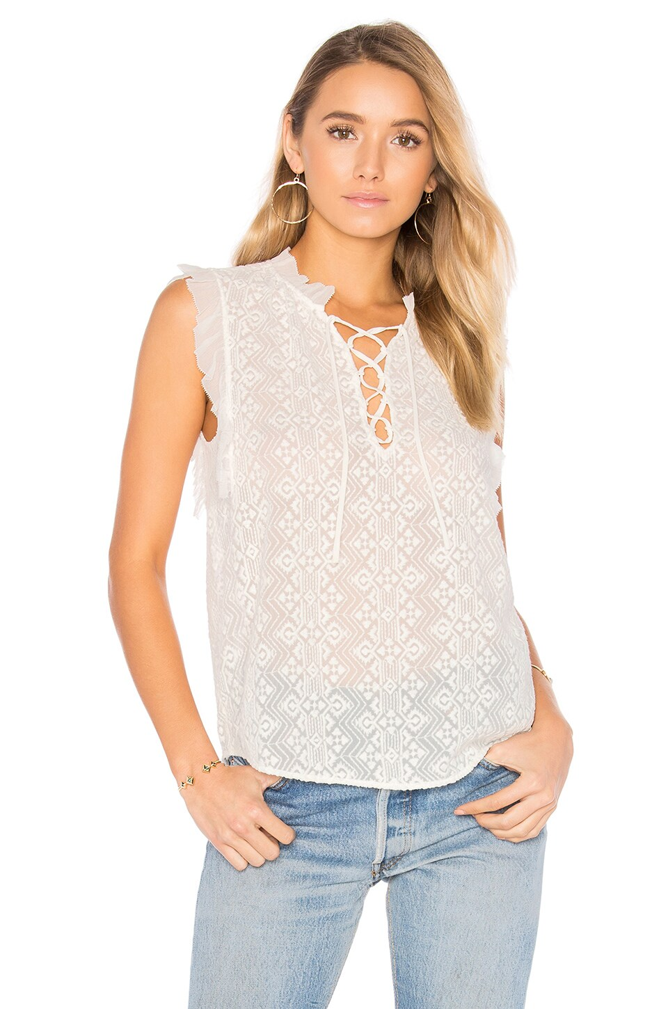 Sleeveless Florence Embroidered Top by Rebecca Taylor