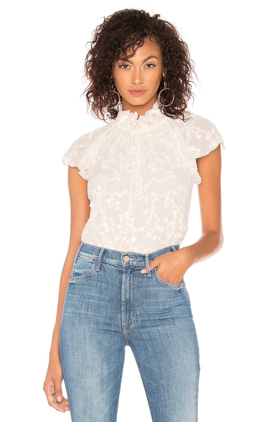 Ellie Embroidery Top