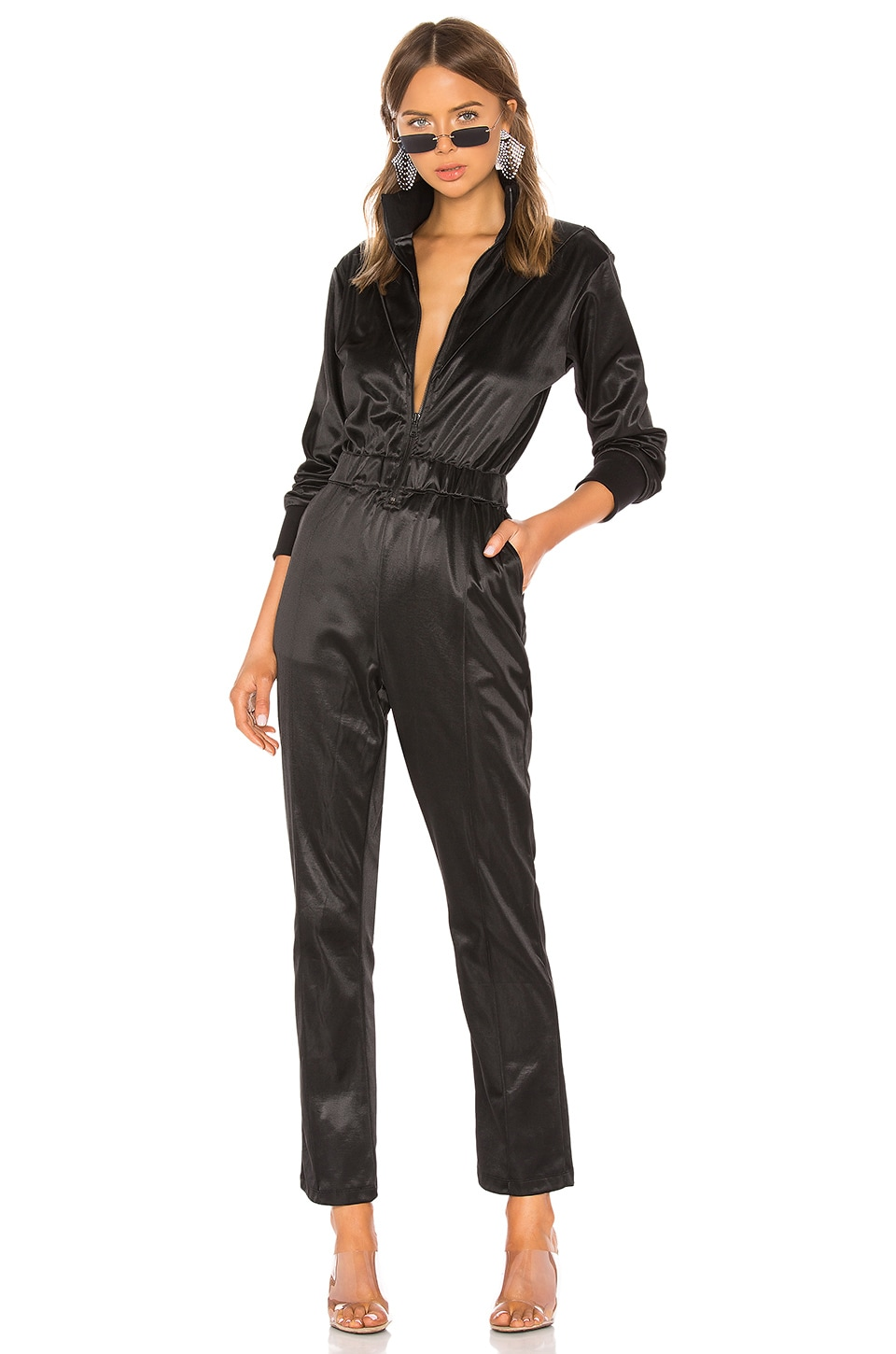 RtA Antonia Jumpsuit in Active Black