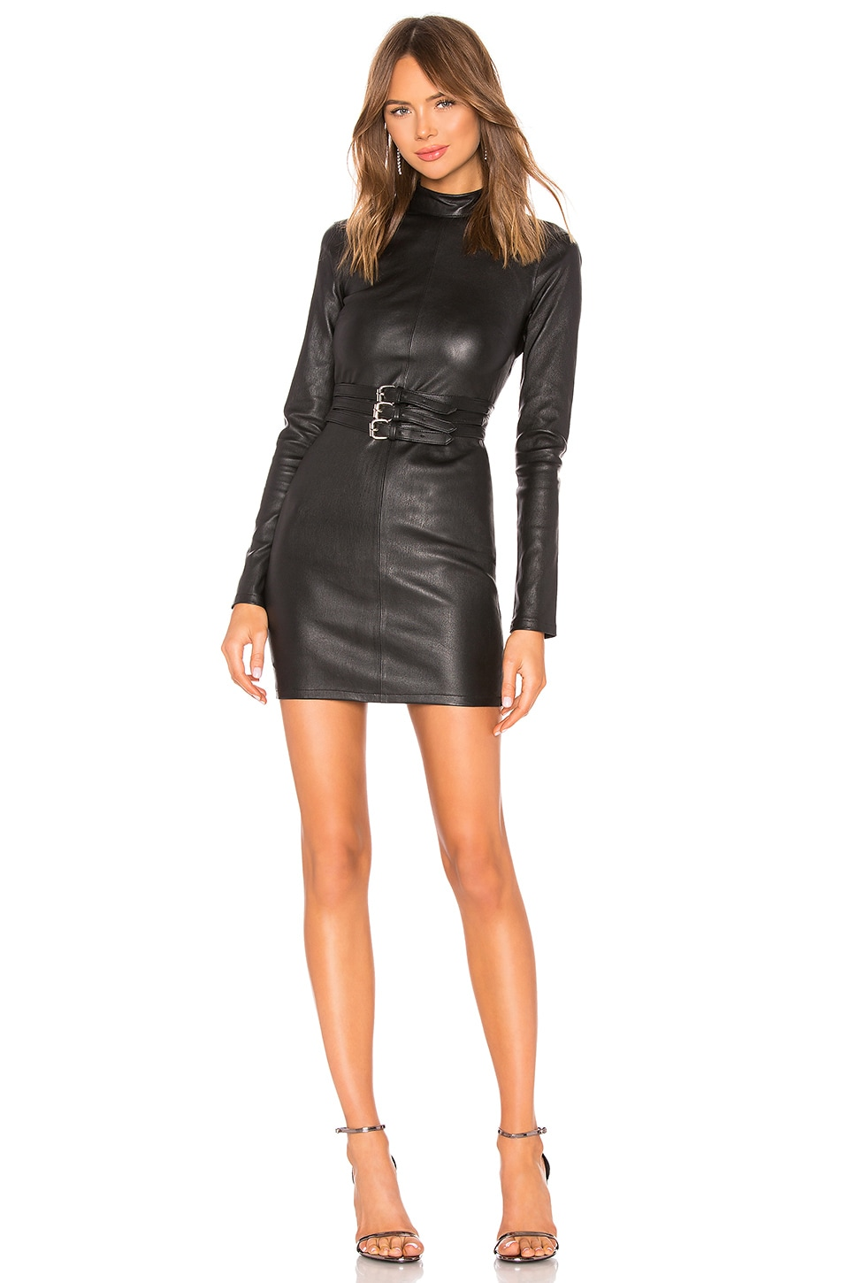 RtA Domino Leather Dress in Night Life 2