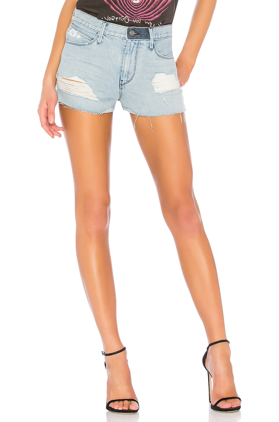 ACE DISTRESSED CUTOFF DENIM SHORTS