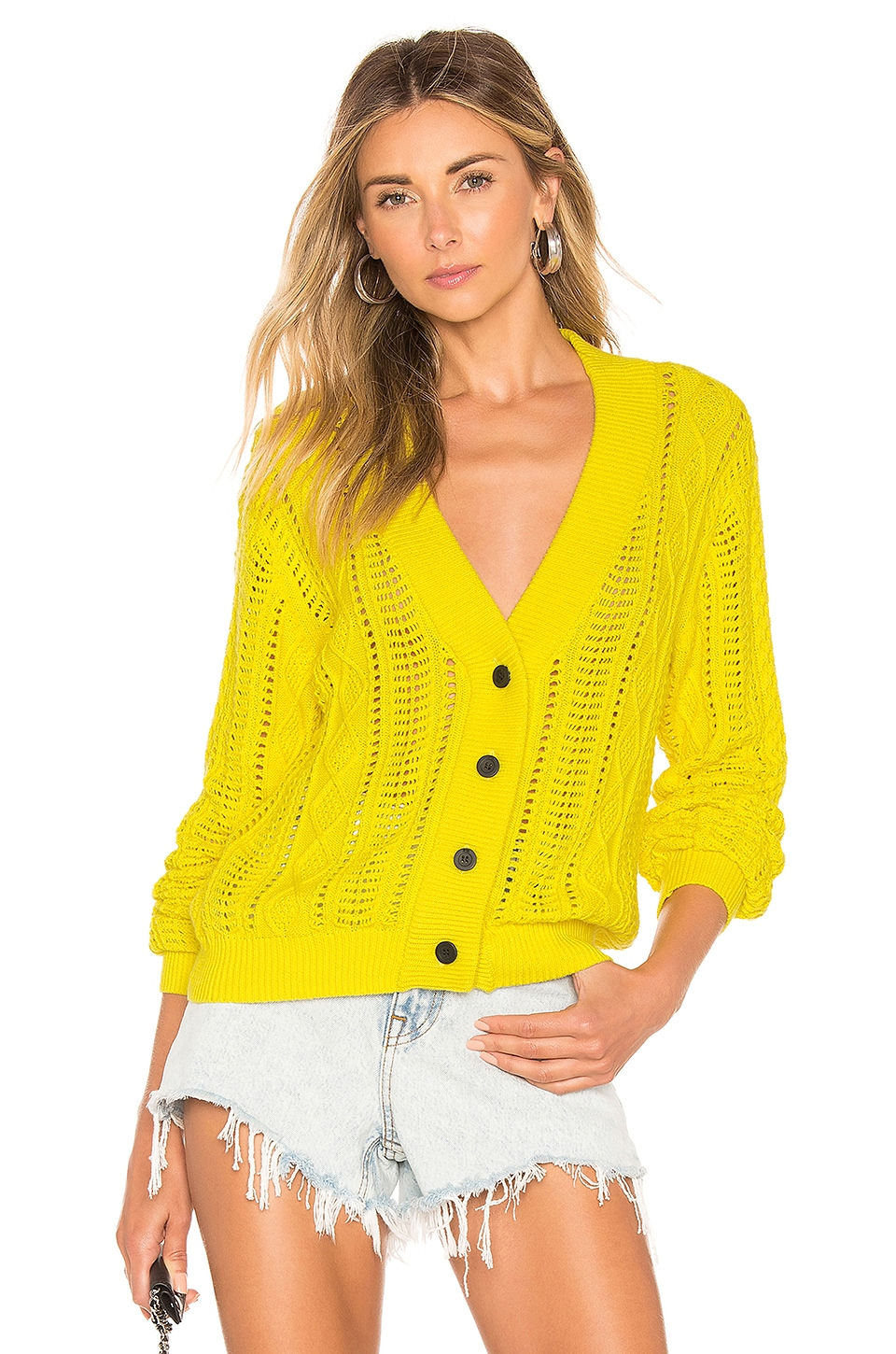 RtA Hunter Cardigan in Lemon