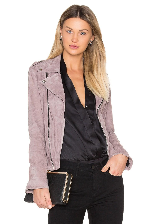 RtA Nico Moto Jacket in Pink Stone