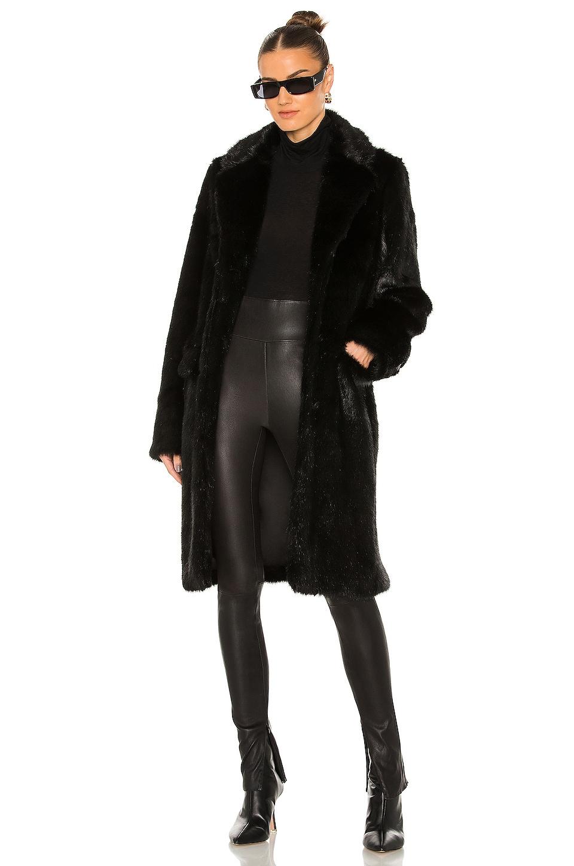 RtA Dawson Faux Fur Coat in Black