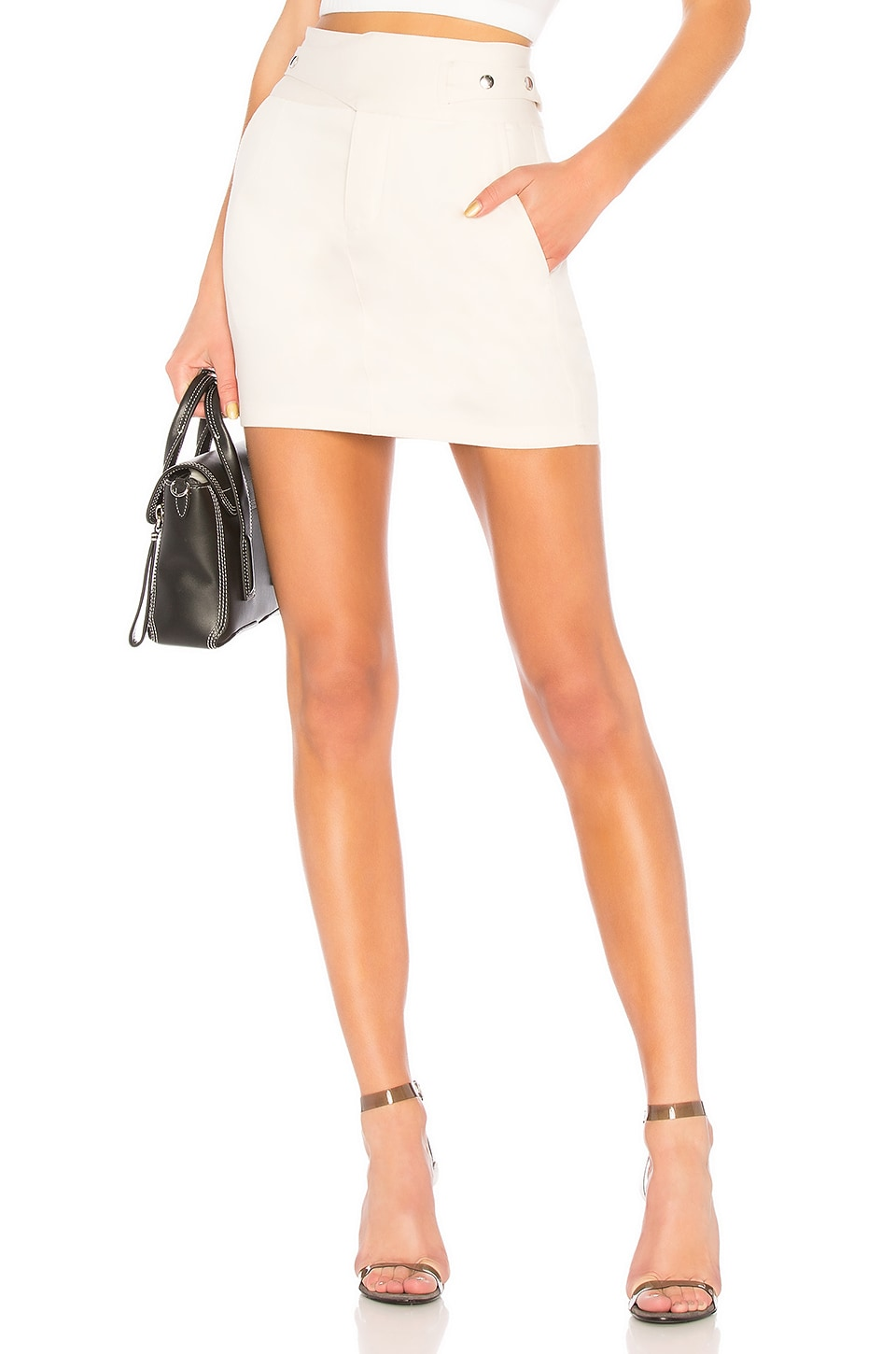 RtA Skylar Skirt in Vintage White