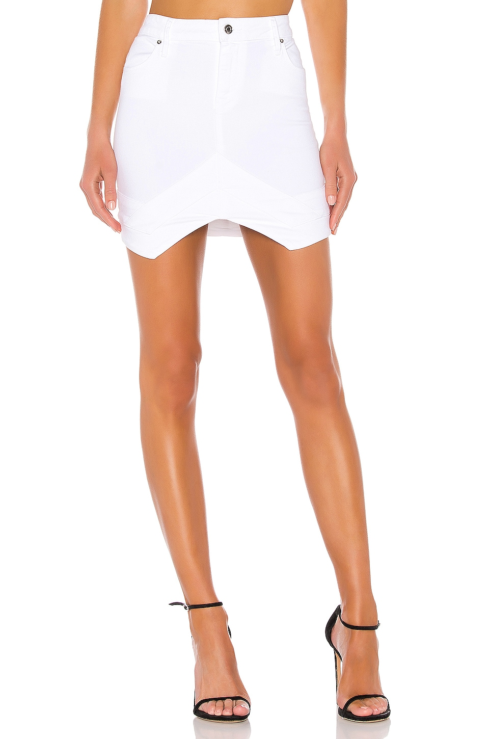 RtA Tempest Skirt in Optic White 5