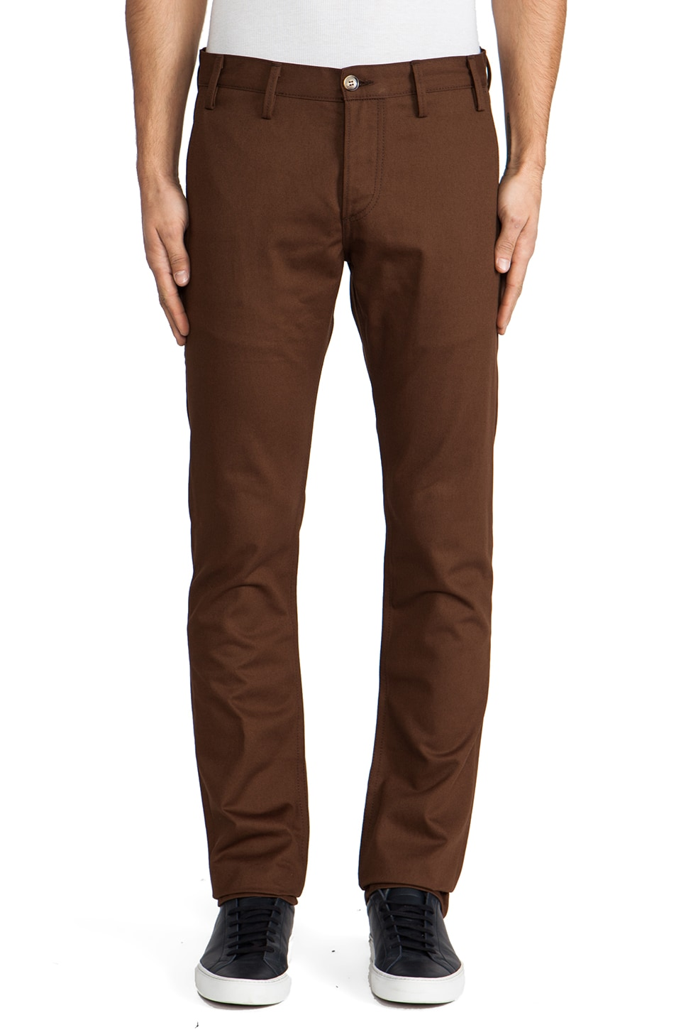 Rogue Territory Officer Trouser 8oz Twill in Nutmeg
