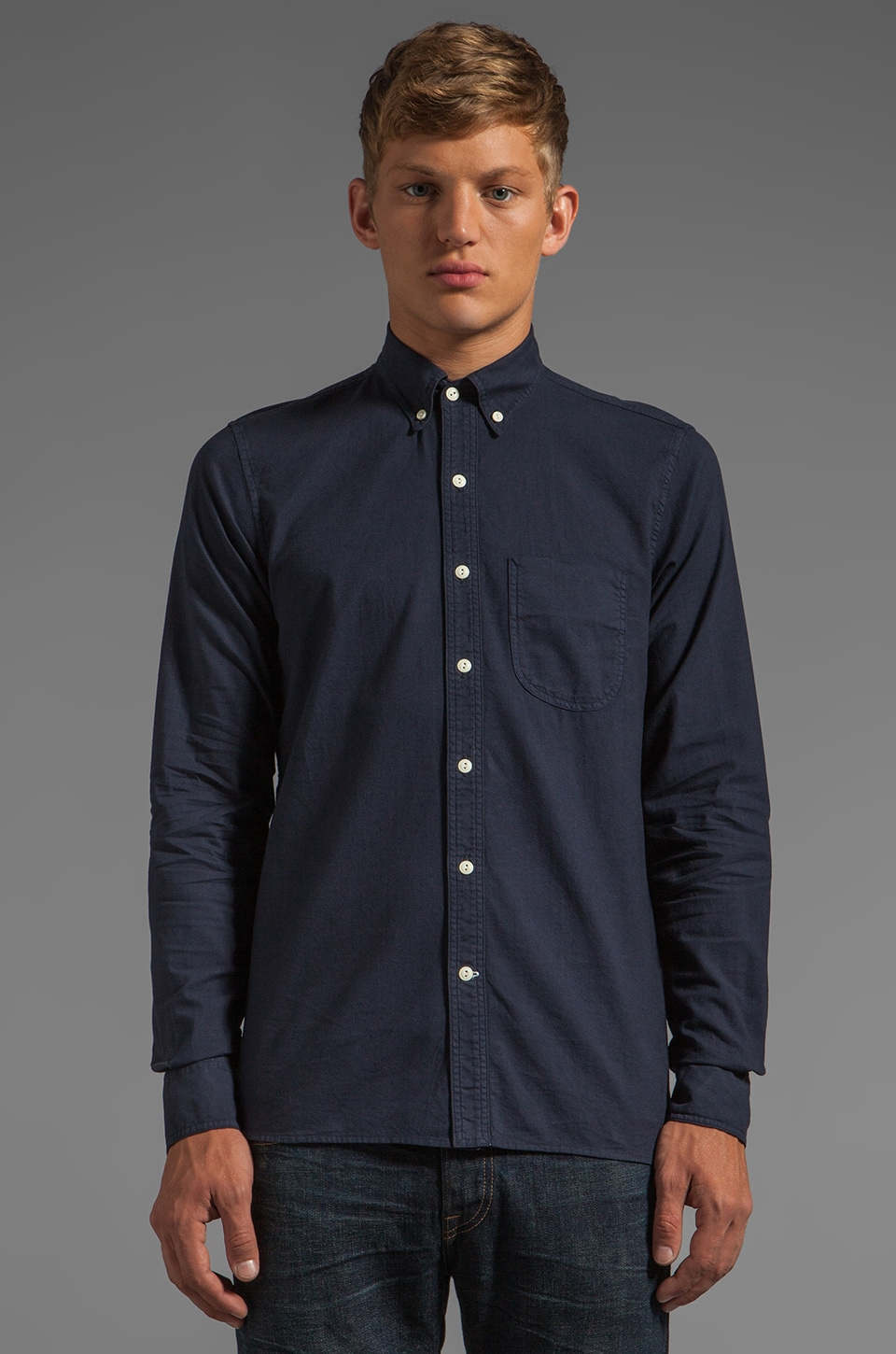 Rogue Territory Jumper Button Down in Navy