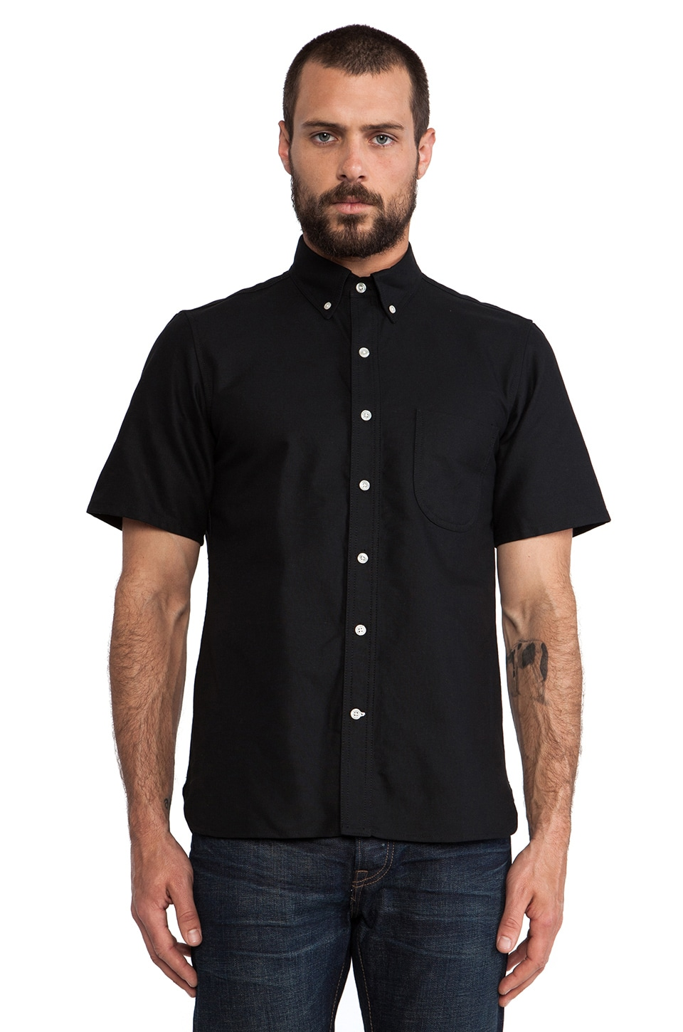 Rogue Territory Jumper Shirt Short Sleeve in Black