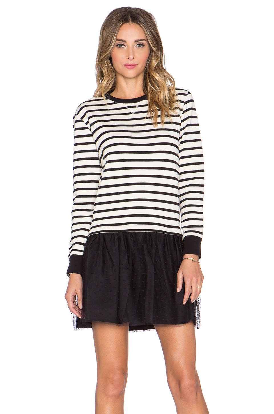 Red And White Striped Sweater Dress Red Valentino Striped Sweater