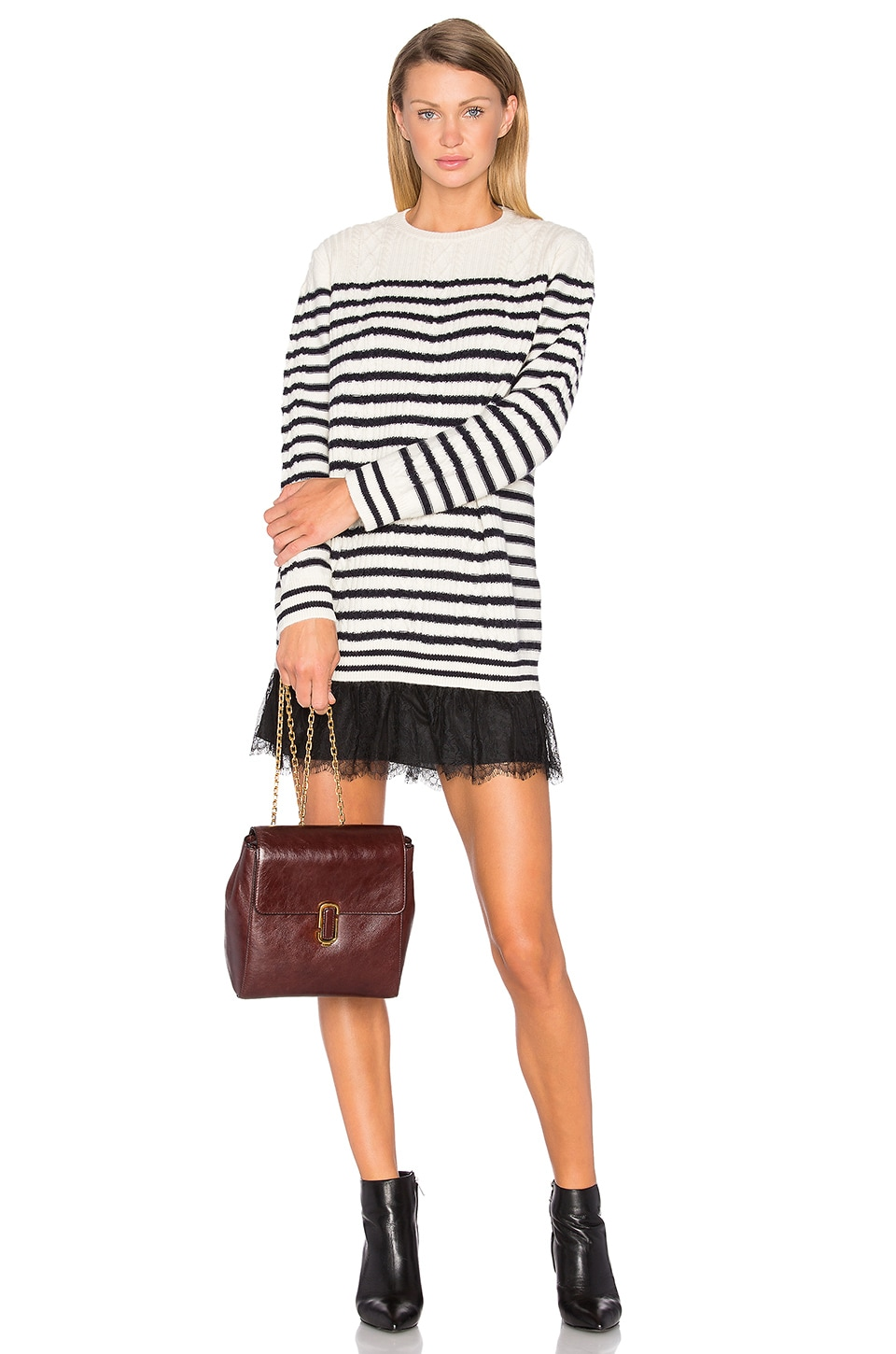 Striped Sweater Dress by Red Valentino