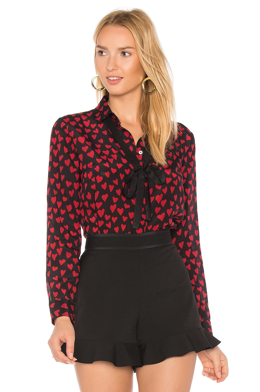 Red Valentino Heart Print Shirt in Black