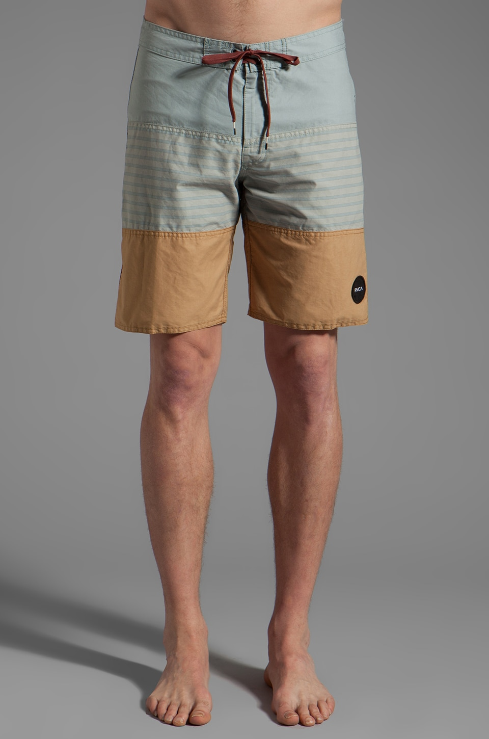 RVCA Layer Boardshort in Olive Mute/Sea Storm