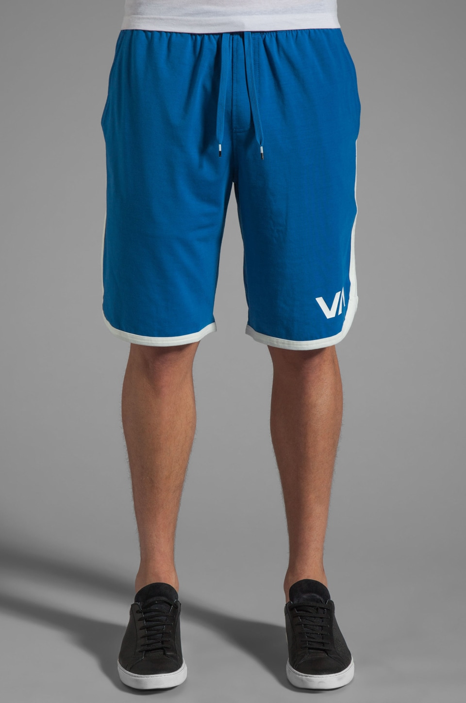 RVCA VA Sport Short in Snorkel Blue/Vintage White