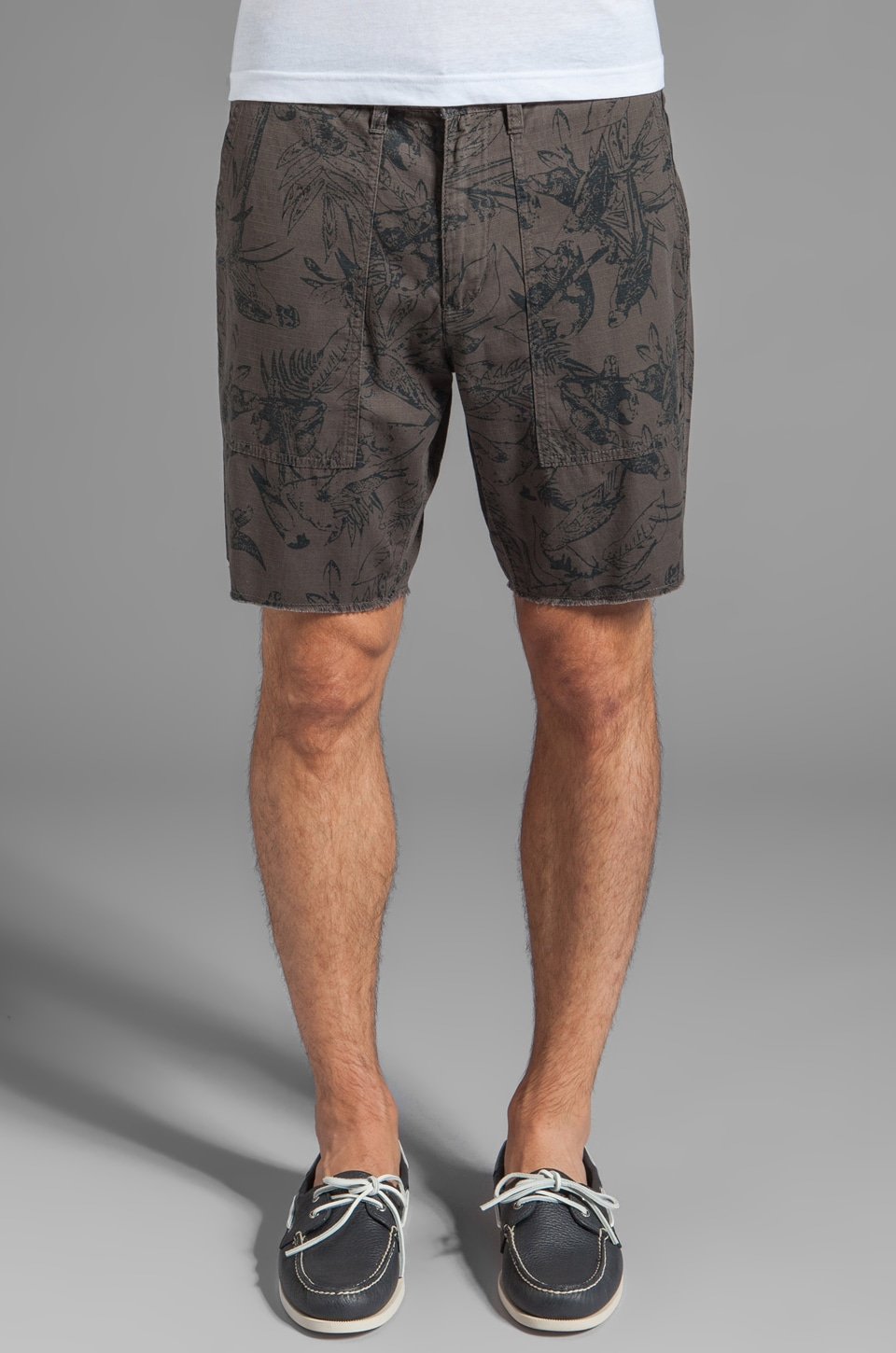 RVCA Hot Tropics Short in Dark Charcoal