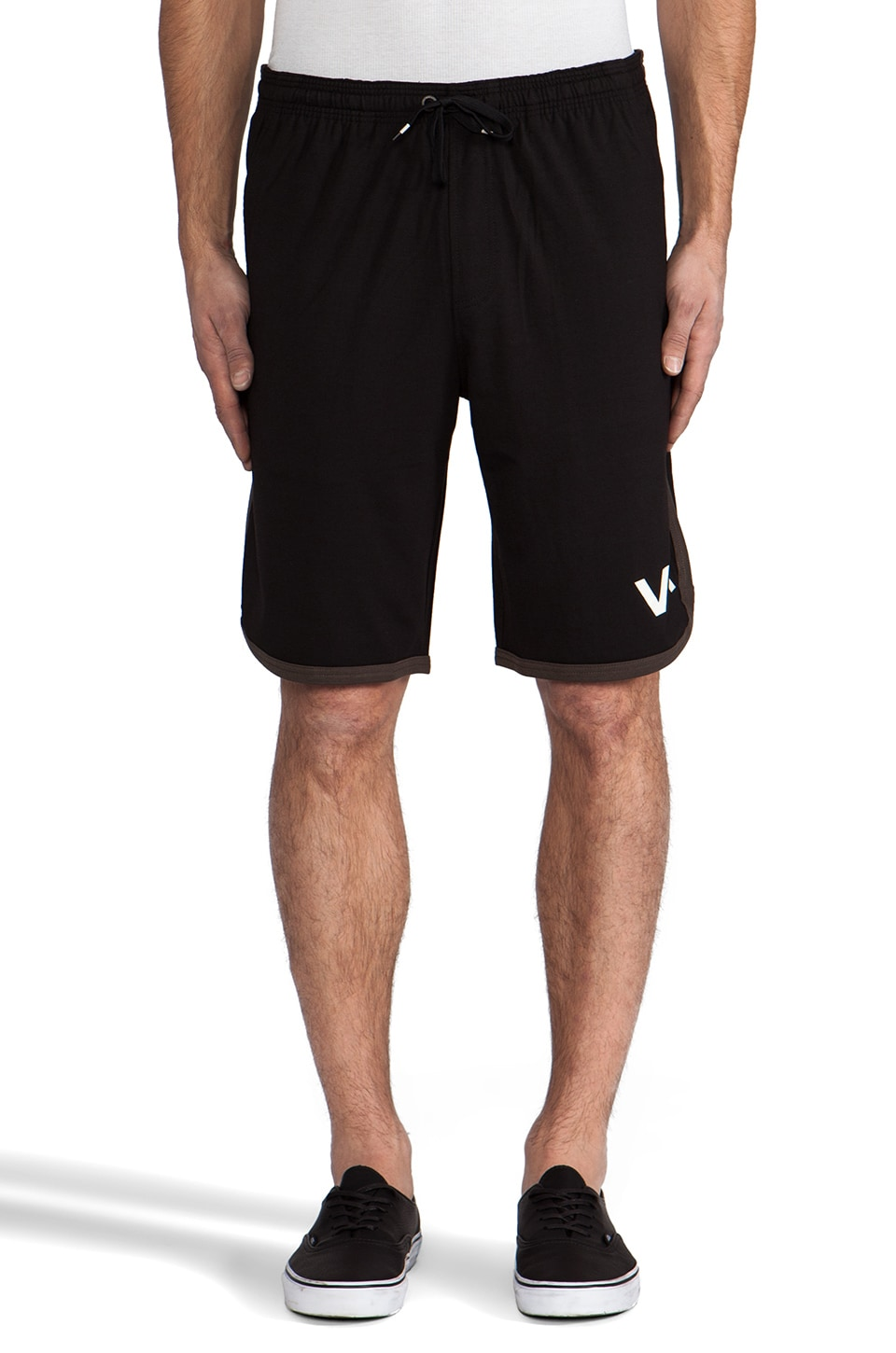 RVCA VA Sport Short in Black/Dark Gray