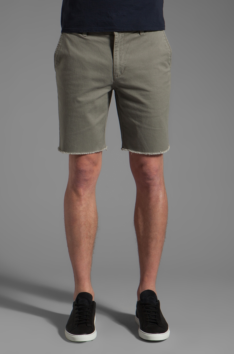 RVCA All Time Cut Off Short in Olive Mute