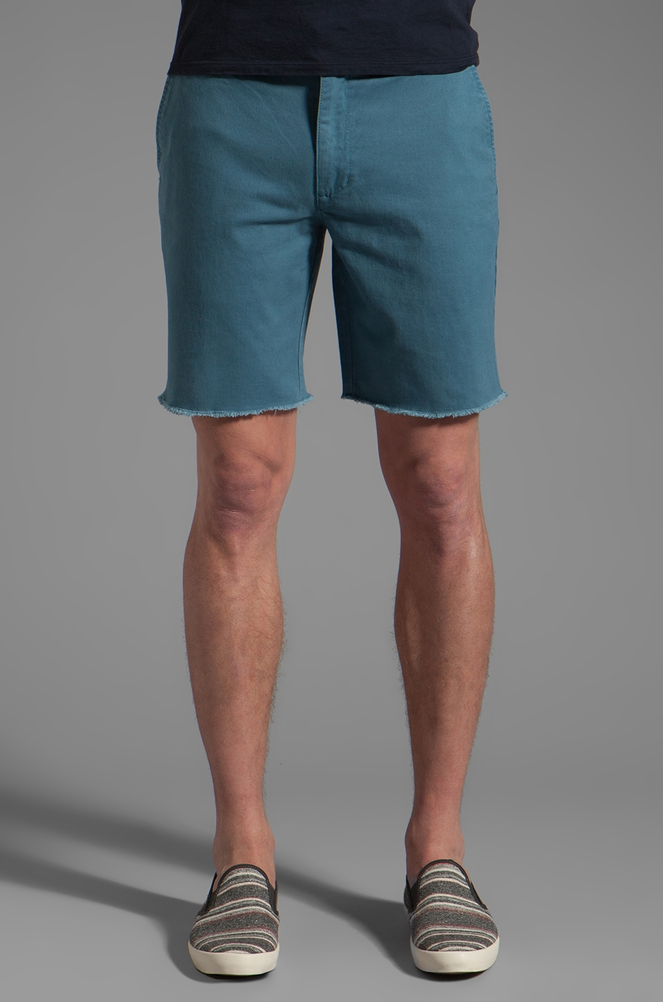 RVCA All Time Cut Off Short in in Aegean Blue
