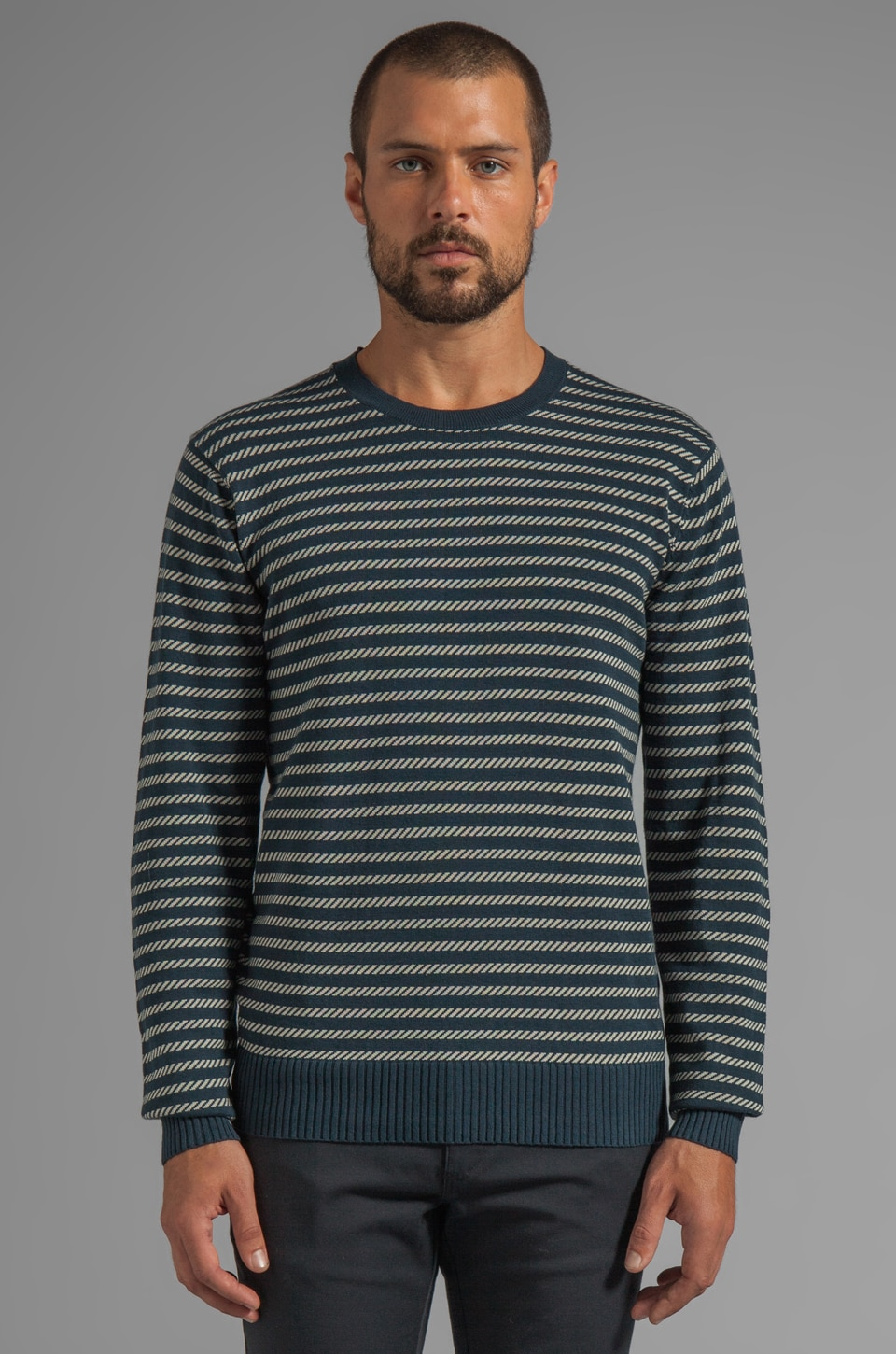 RVCA B-Sider Crew Pullover Sweater in Midnight