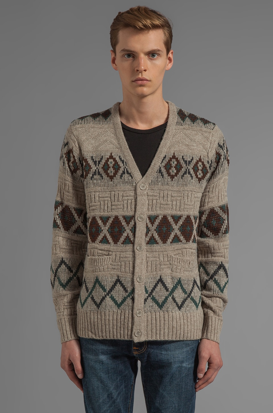 RVCA Crosby Cardigan in Peyote