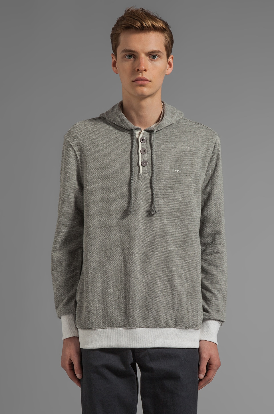 RVCA Capo Pullover Hoodie in Grey Noise