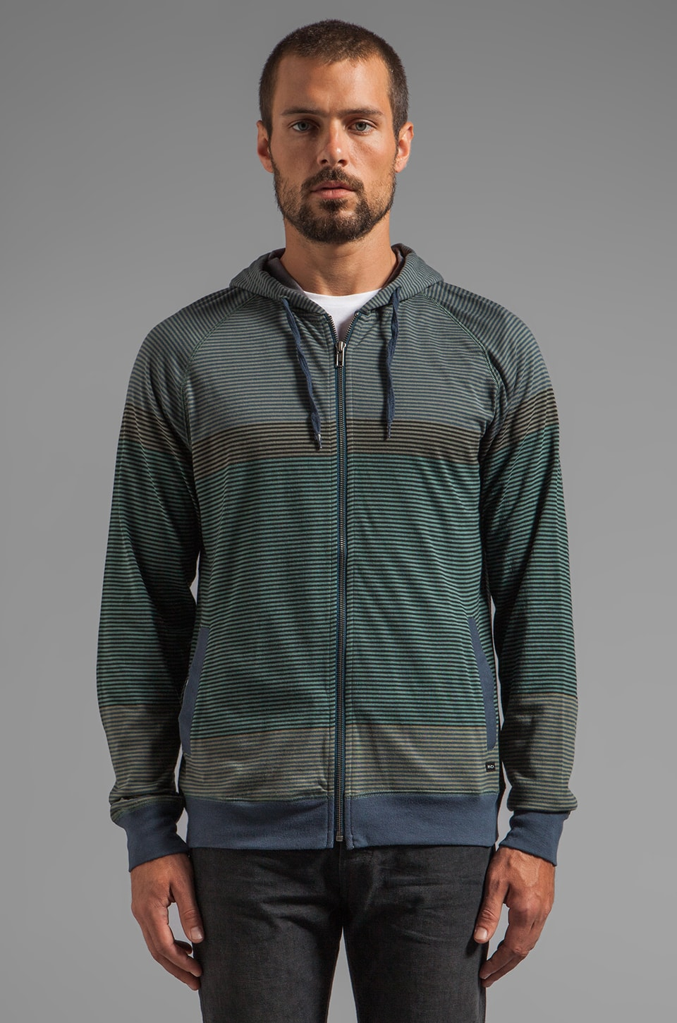 RVCA Commander Zip in Midnight